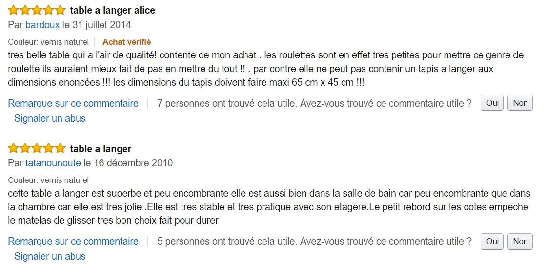 alice_de_combelle_table_a_langer_meilleurs_commentaires_clients_amazon